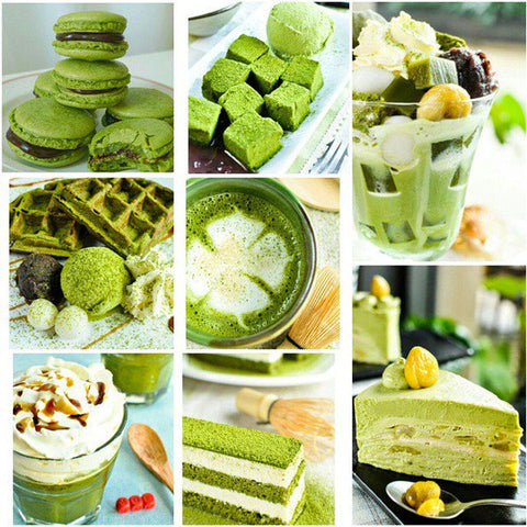 matcha-green-tea-in-various-forms