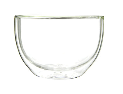 Matcha Tea Bowl - Double Wall Clear Glass 500ml - Chawan