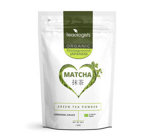 Matcha Green Tea Powder: 40g (1.4oz) Organic Japanese Ceremonial Grade