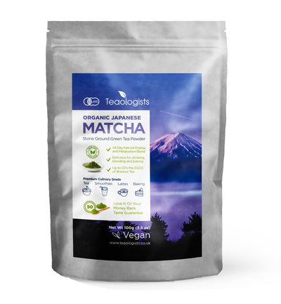 Matcha Green Tea Powder: 100g (3.5oz) Organic Japanese Premium Grade