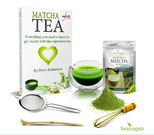 Matcha Green Tea and Teaware Starter Kit by Teaologists