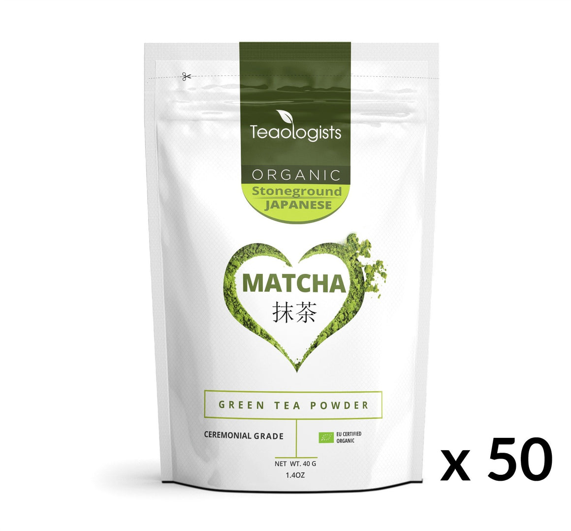 Matcha Green Tea - Organic Japanese Ceremonial Grade BULK BUY 2000g (50 x 40g)