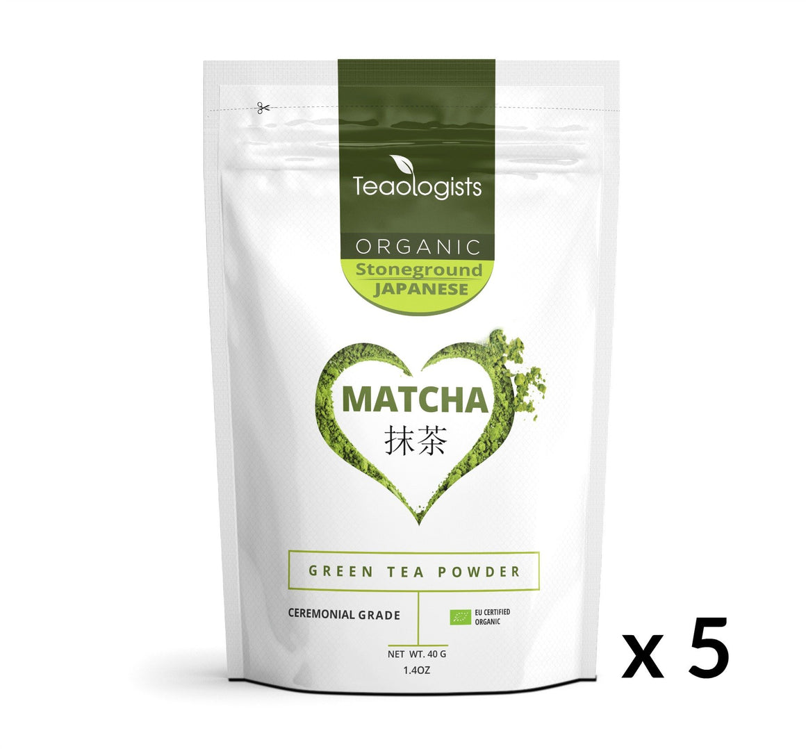 Matcha Green Tea - Organic Japanese Ceremonial Grade BULK BUY 200g (5 x 40g)