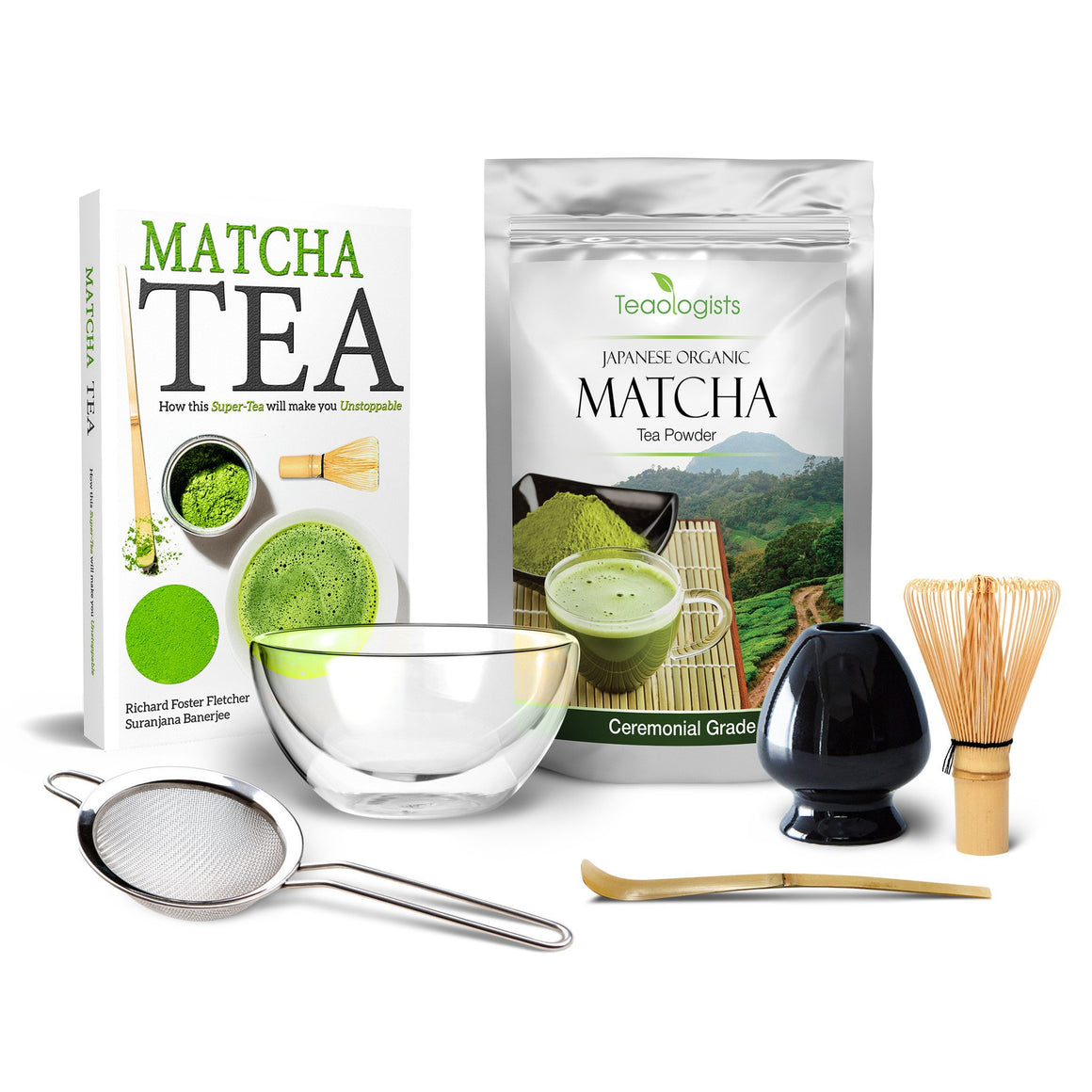 Professional Matcha Tea Set by Teaologists: Includes 40g Finest Organic  Matcha, 5✮ rated Matcha Book and authentic Japanese Matcha Teaware - Teaologists - 1