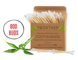 Sustainable Bamboo Cotton Buds 800 sticks