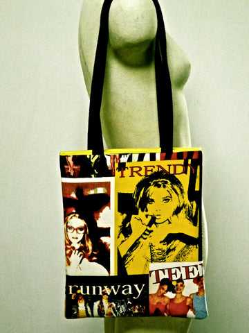 Pop Art Flat Tote Bag