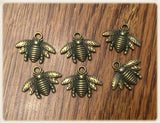 Bronze Bee Charms