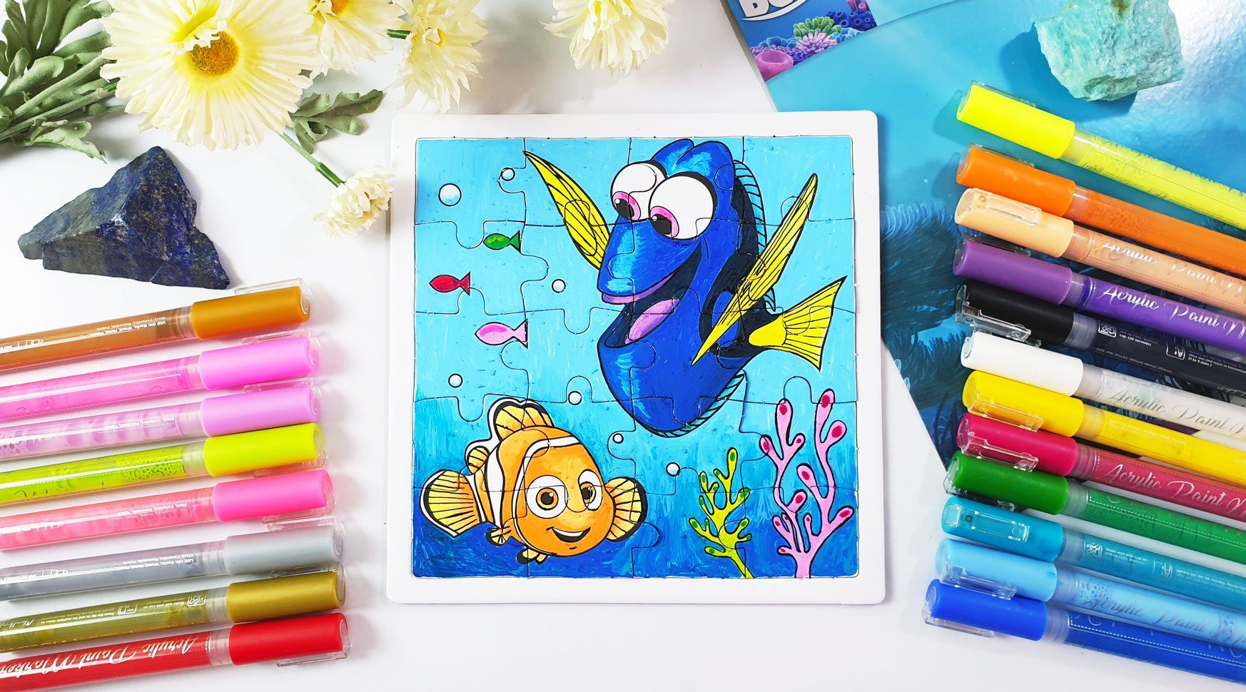 DIY Puzzle with Dory Artwork