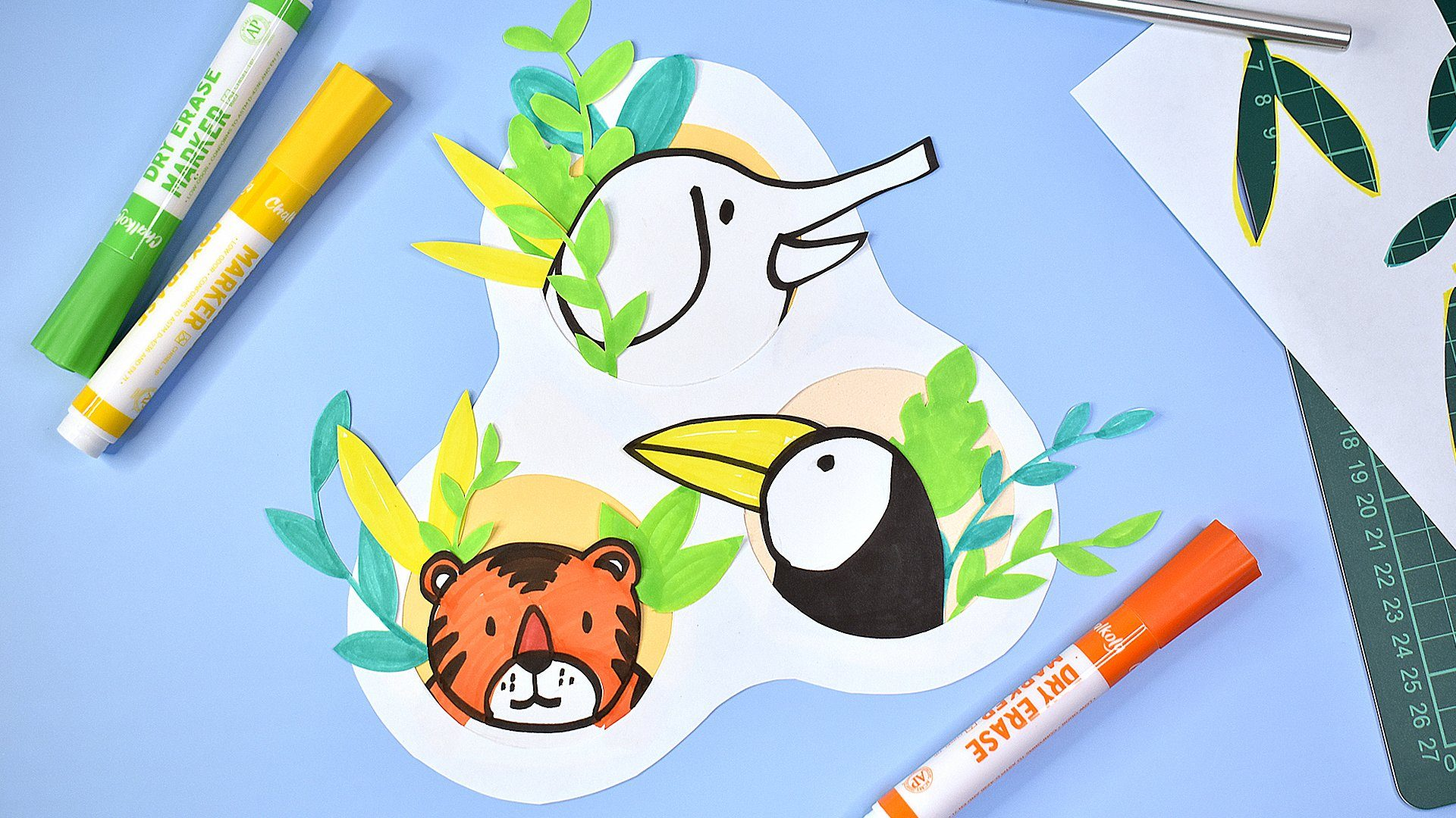 ARTIVITY: DIY Animal Cutouts with Dry Erase Markers