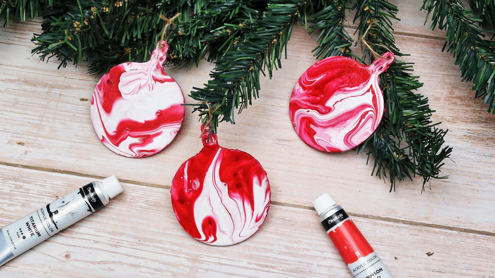 Design Ornaments by Acrylic Pouring | Chalkola Art Supply