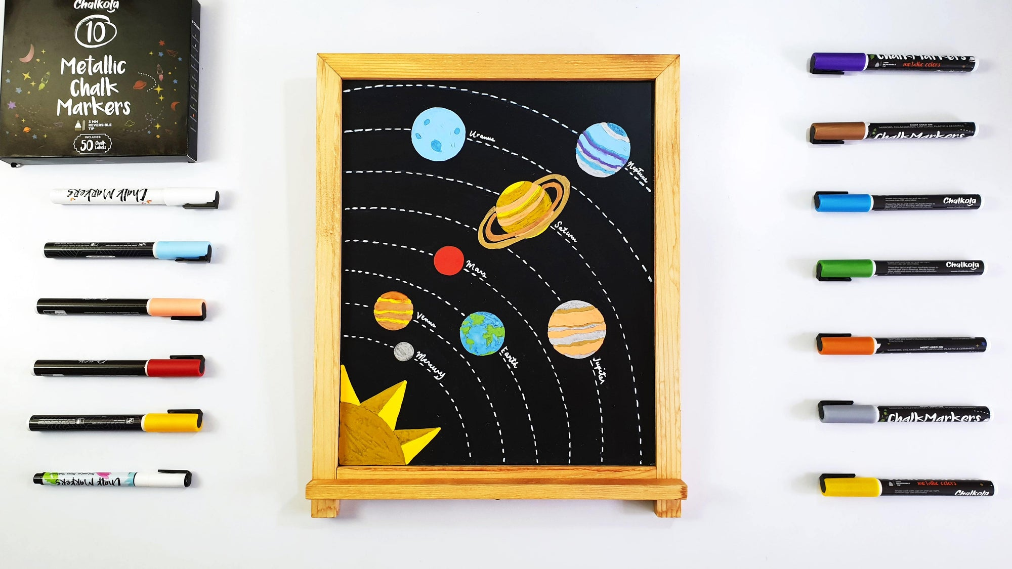 ARTIVITY: Draw the Solar System with Chalk Markers