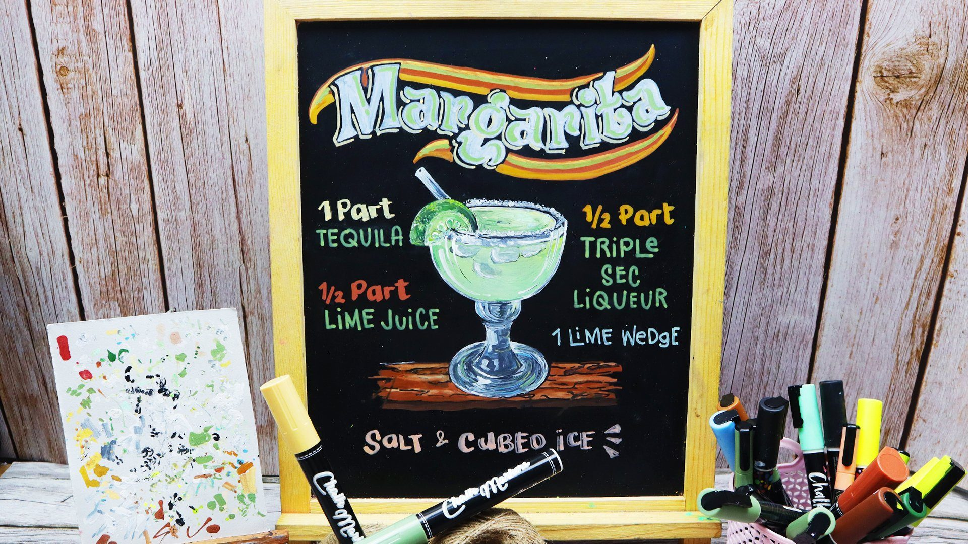 Cocktail Hour Special: How to Design a Margarita Recipe Board Using Chalk Markers