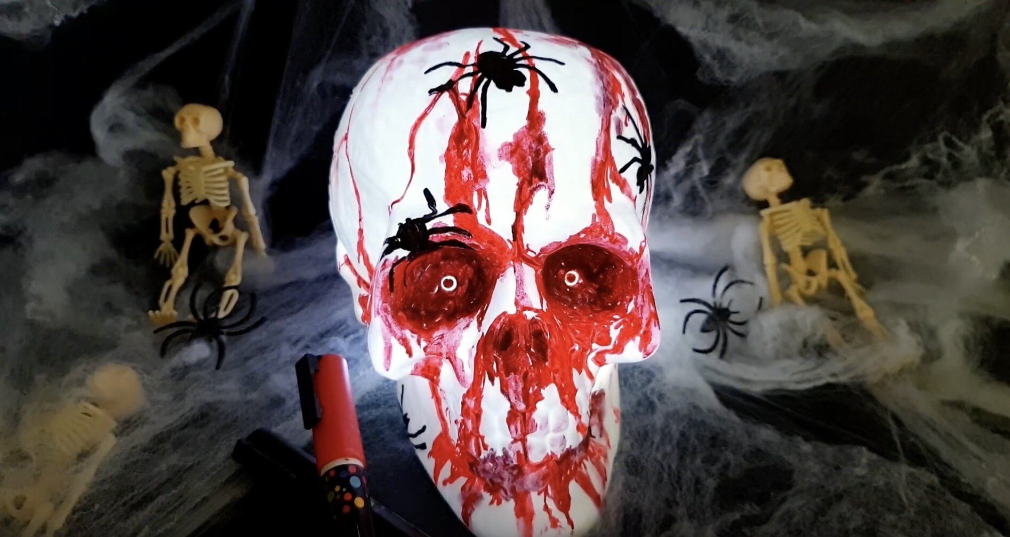 Halloween Skull Decorations.How To Make A Spooky Halloween Skull Decoration Chalkola Art Supply