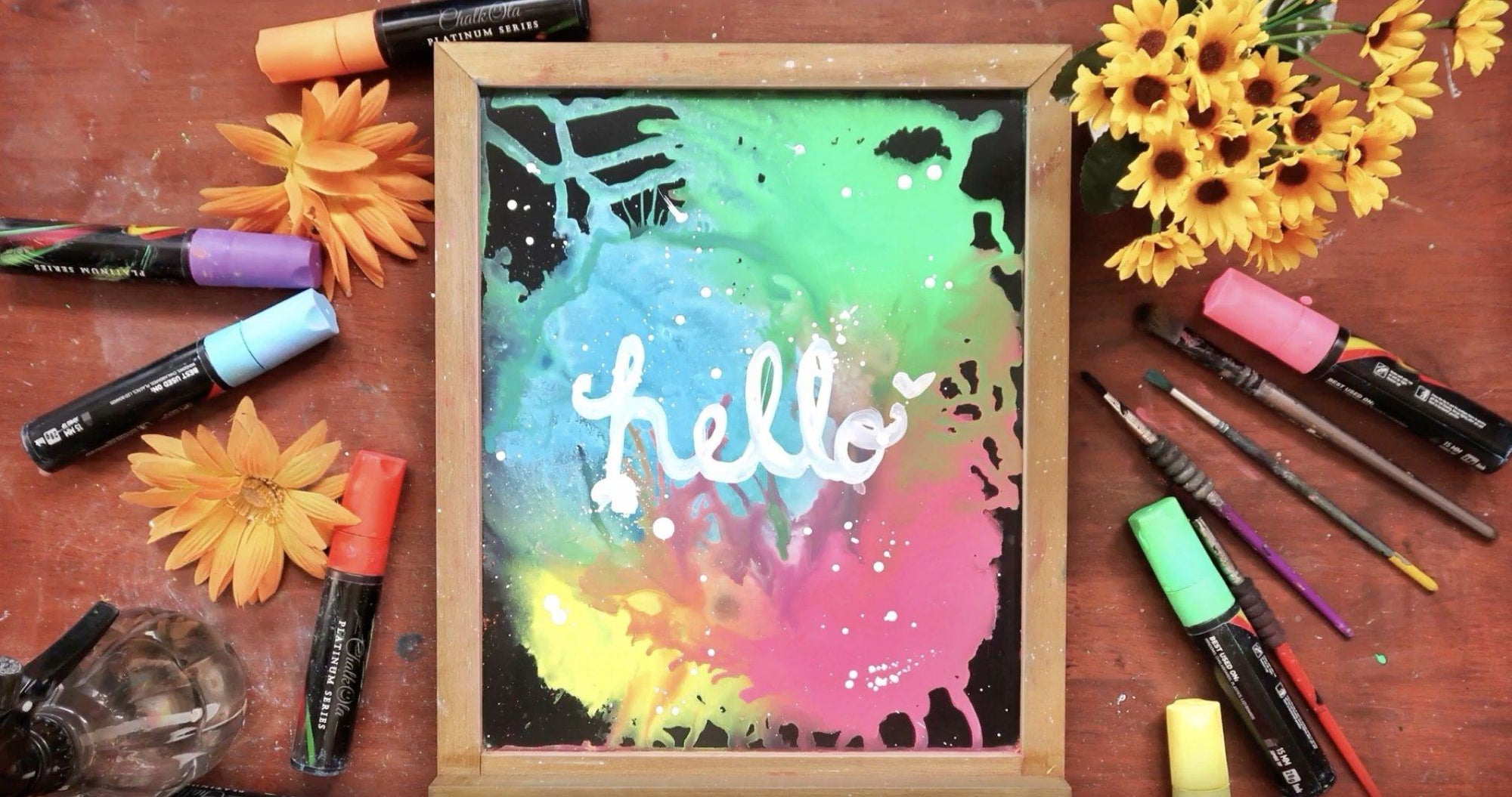 How to Paint Backgrounds Using Chalk Markers | Chalkola Art Supply