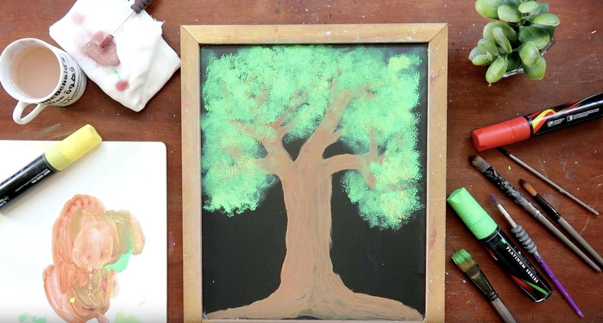 How To Paint With Chalk Markers [DIY Tutorial] | Chalkola Art Supply