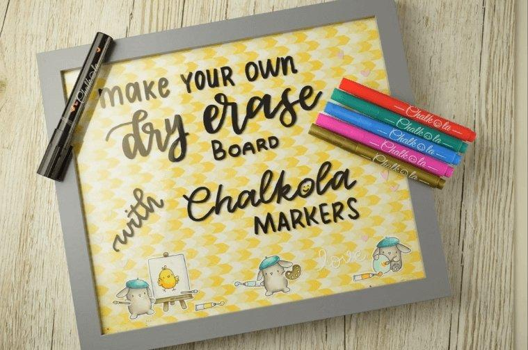 Making a Dry Erase Board for Chalkola Chalk Markers | Chalkola Art Supply