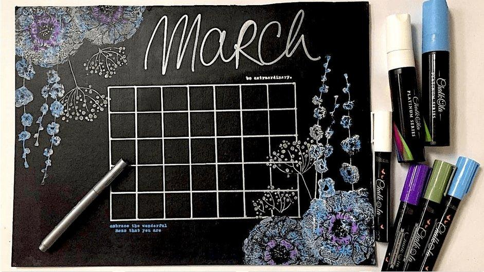 Making an Erasable Calendar with Chalkola Chalk Markers | Chalkola Art Supply