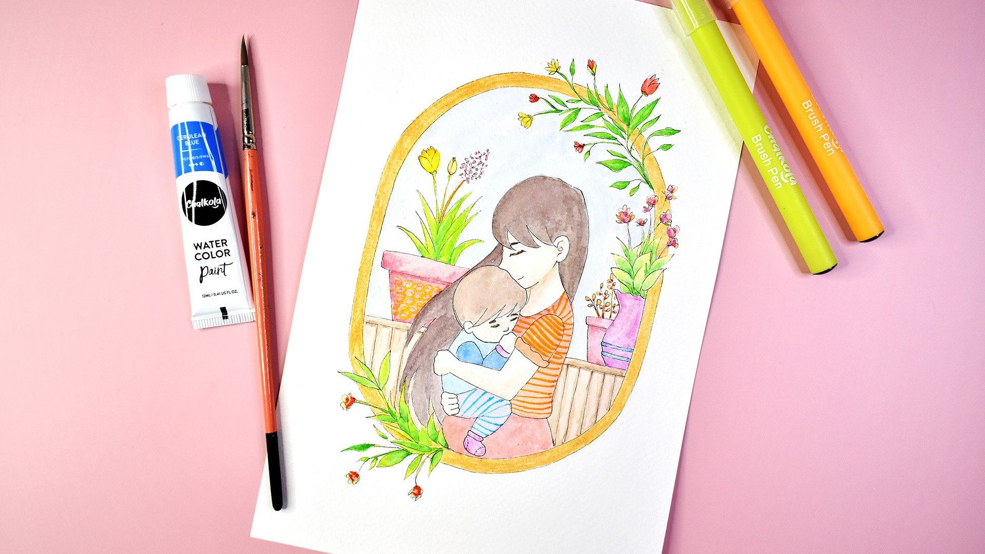 Create a Watercolor Artwork for Mother's Day