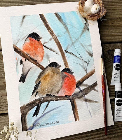 78 Painting Ideas - Bird Painting With Watercolor