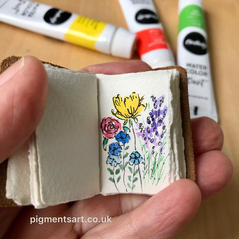 78 Painting Ideas - Paint On A Small Recycled Notebook