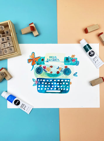 78 Painting Ideas - Paint And Stamp With Watercolors