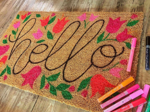 78 Painting Ideas - Welcome Mat Painting