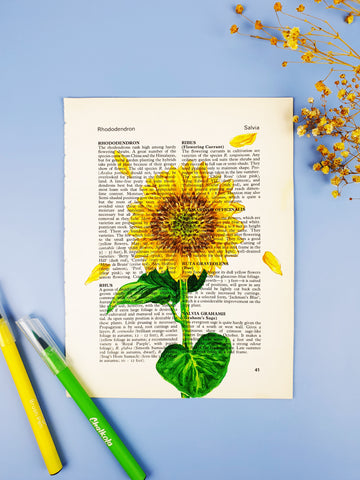 78 Painting Ideas - Paint On A Book Page