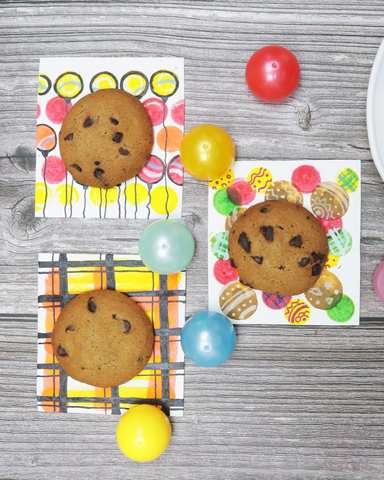 78 Painting Ideas - Painted Cookie Wrapper