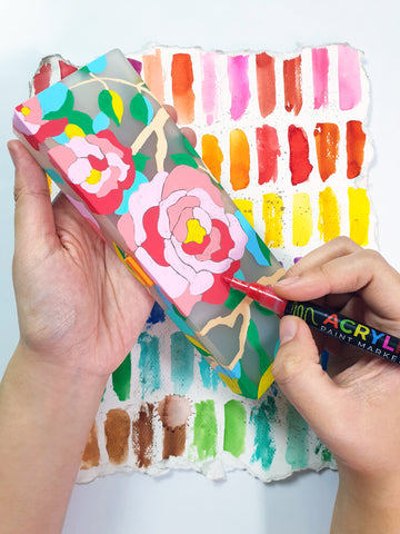 78 Painting Ideas - Painted Gift Wrapper