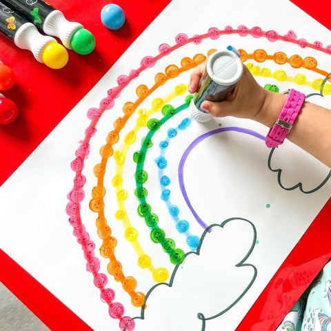 78 Painting Ideas - Rainbow Painting For Kids