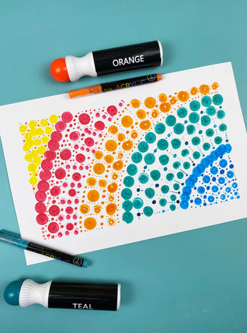 78 Painting Ideas - Paint A Tile Design With Dot Markers