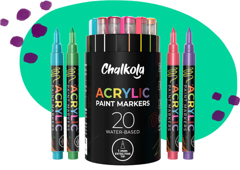 Acrylic Paint Markers 20-Pack 1mm Product