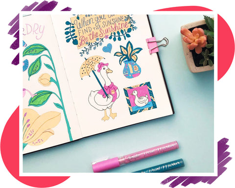 Acrylic Paint Markers Journaling