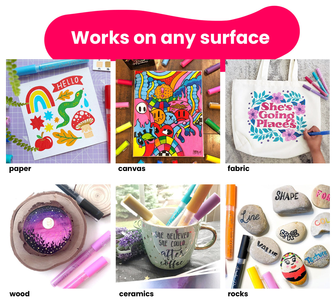 Acrylic Paint Markers Surfaces