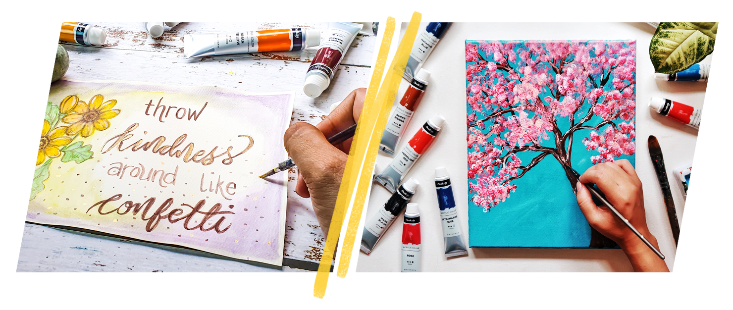 Basic Acrylic Painting Supplies - Paper & Canvas