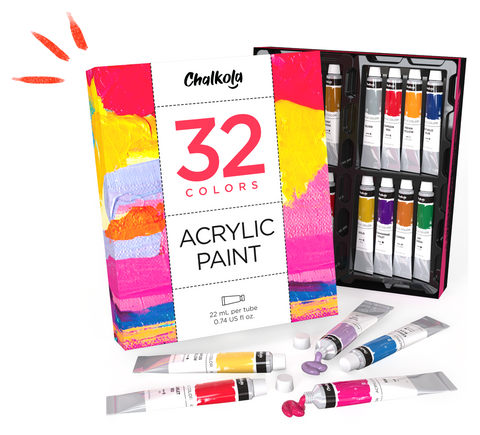 Acrylic Paint Products - 32 Colors
