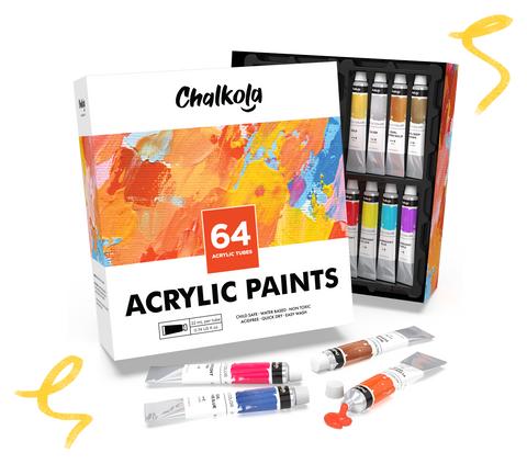 Acrylic Paint Products - 64 Colors