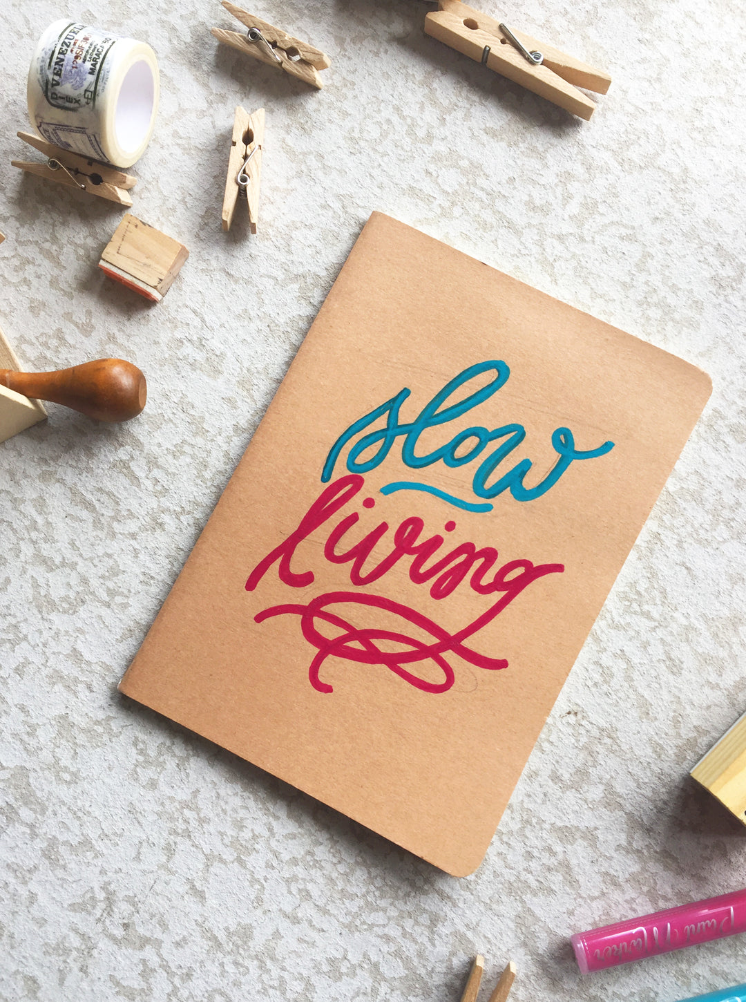 Wearable Acrylic Painting Notebook