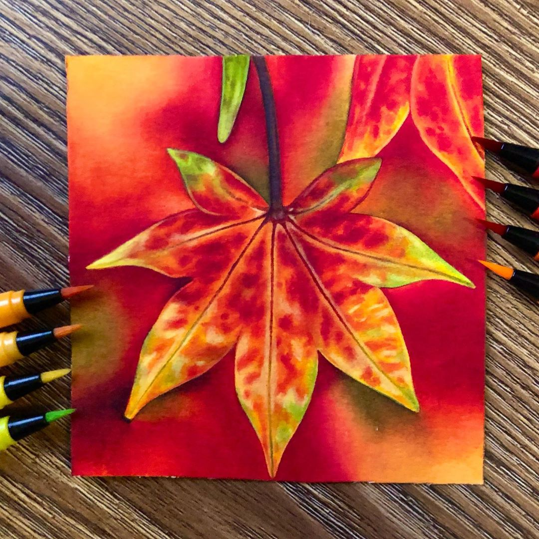 Autumn Watercolor Painting 3