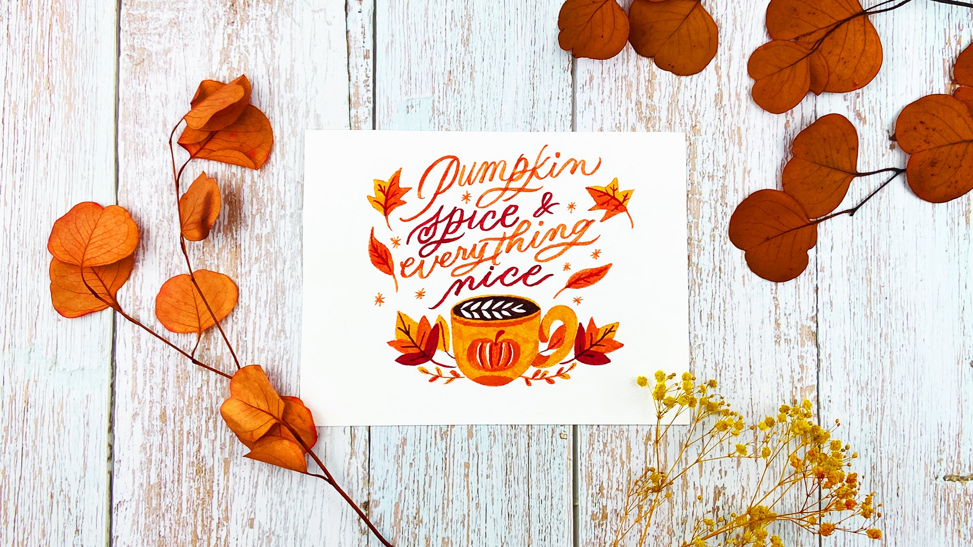 Autumn Watercolor Painting 4