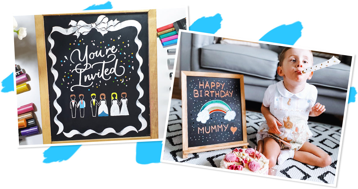 Chalkboard Parties and Events Decor