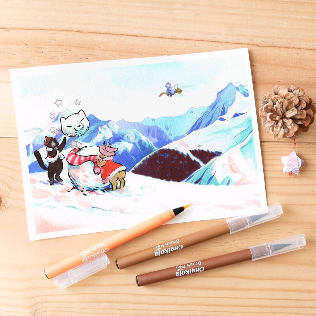 Christmas Watercolor Painting 2