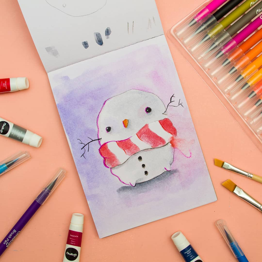 Christmas Watercolor Painting 5