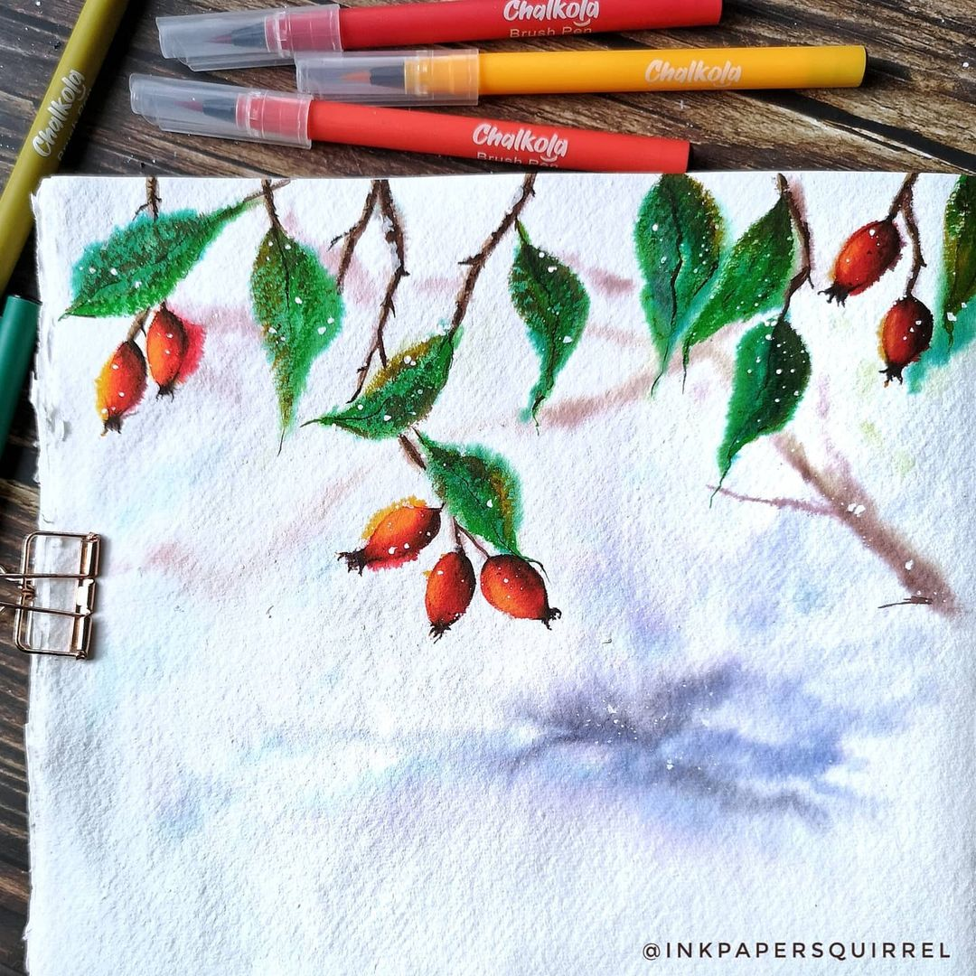 Christmas Watercolor Painting 6