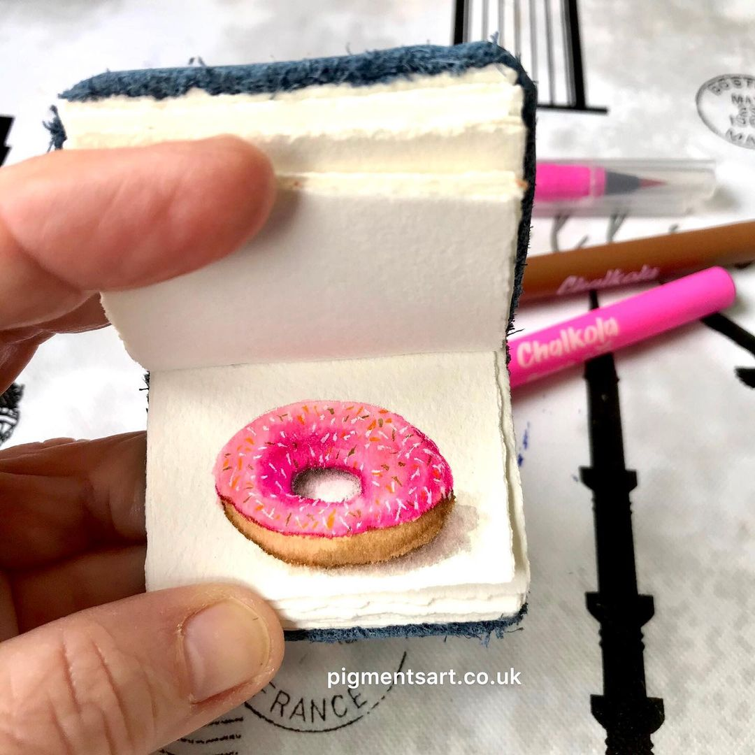 Donut Watercolor Painting