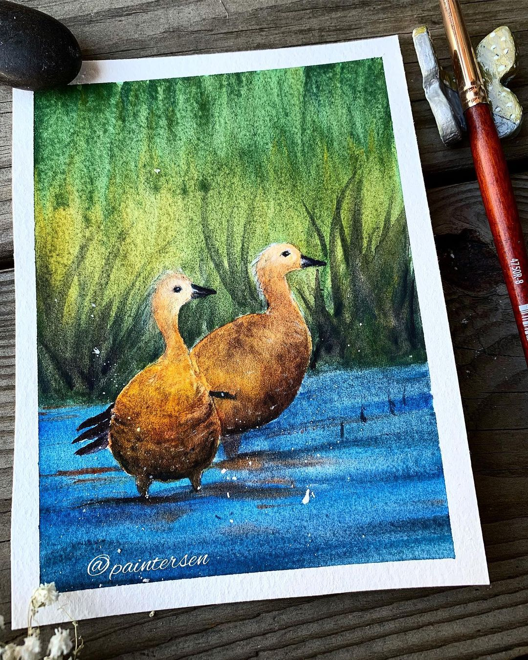 Duck Watercolor Painting