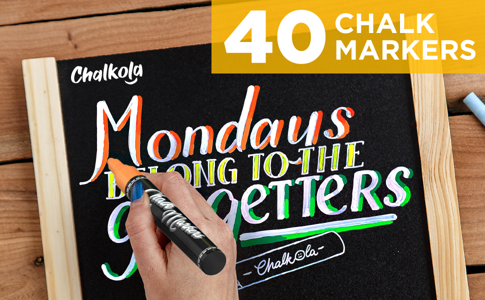 Chalkola Chalk markers for chalkboard and windows