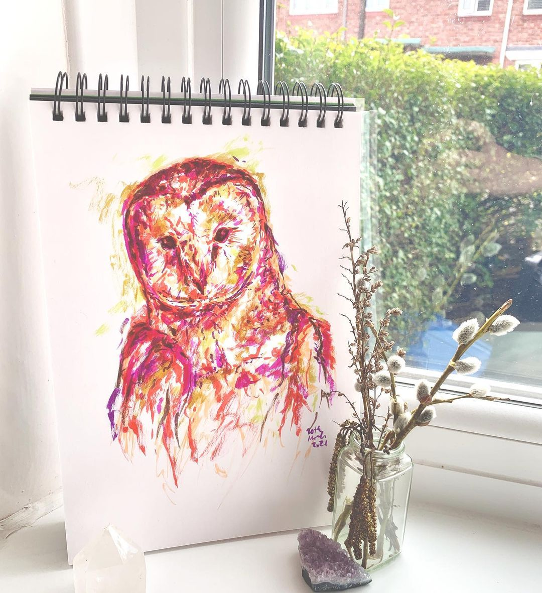 Owl Watercolor Painting 2
