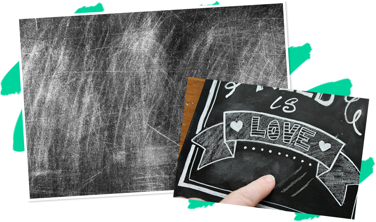 How to Clean Chalkboard Ghosting