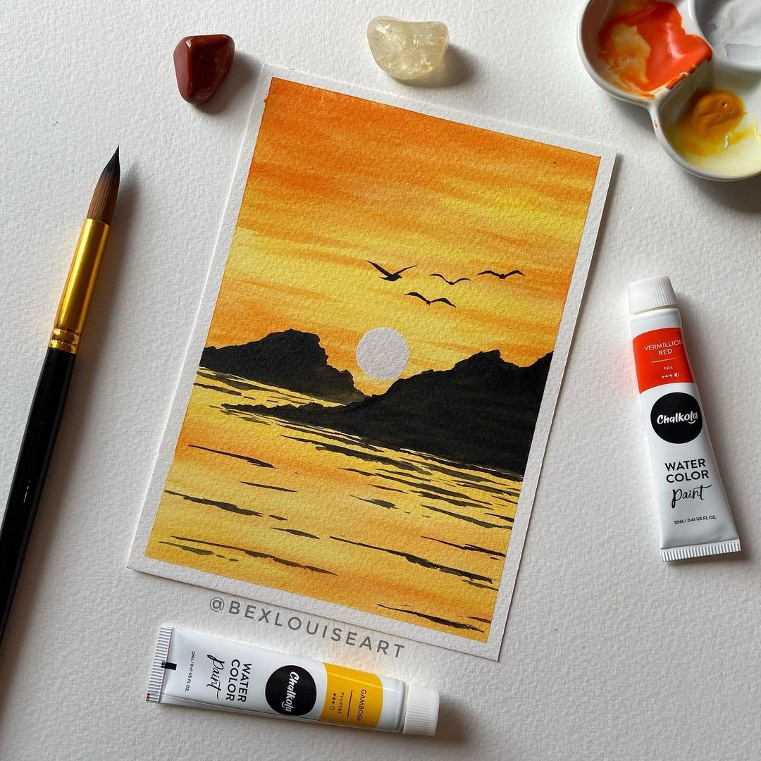 Seascape Watercolor Painting 2